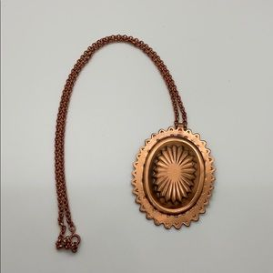 Solid copper Concho necklace